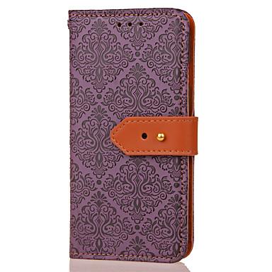 Недорогие Чехлы и кейсы для Galaxy Note 3-Кейс для Назначение SSamsung Galaxy Note 5 / Note 4 / Note 3 Кошелек / Бумажник для карт / со стендом Чехол Геометрический рисунок / Цветы Твердый Кожа PU