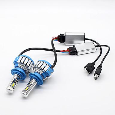 Недорогие Автомобильные фары-H7 Автомобиль Лампы 35 W Высокомощный LED 7000 lm Налобный фонарь