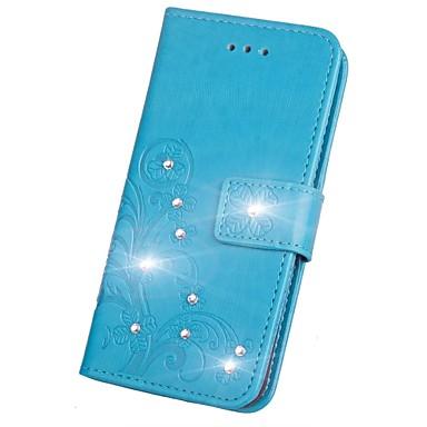 Недорогие Чехлы и кейсы для Galaxy S3-Кейс для Назначение SSamsung Galaxy S9 / S9 Plus / S8 Plus Стразы / Флип / Рельефный Чехол Мандала / Бабочка Твердый Кожа PU