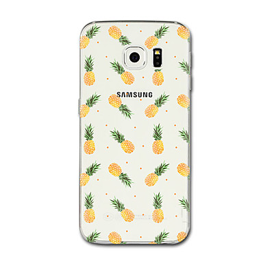 رخيصةأون حافظات / جرابات هواتف جالكسي S-غطاء من أجل Samsung Galaxy S8 Plus / S8 / S7 edge شفاف / نموذج غطاء خلفي فاكهة ناعم TPU