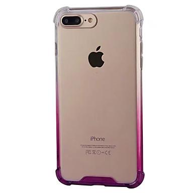 Недорогие Кейсы для iPhone 6-Кейс для Назначение Apple iPhone 8 Pluss / iPhone 8 / iPhone 7 Plus Защита от удара / Прозрачный Кейс на заднюю панель Градиент цвета Мягкий ПК