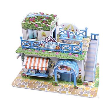 Puzzles 3D Puzzle Maquette En Papier Kit De Maquette Maison Architecture  Glace 3D A Faire Soi Même Papier De Haute Qualité Classique De 6052405 2018  à U20ac1.99