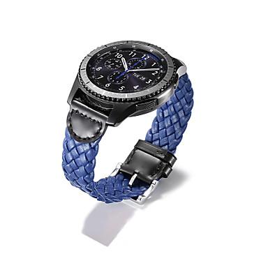 voordelige Smartwatch-accessoires-Horlogeband voor Gear S3 Frontier / Gear S3 Classic / Gear S3 Classic LTE Samsung Galaxy Klassieke gesp Echt leer Polsband