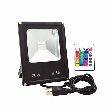 olcso Kültéri lámpák-ac85-265v ip65 vízálló 30w-os távirányító színes rgb színes kültéri fényvezető lámpa 1db