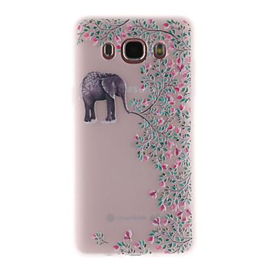 رخيصةأون حافظات / جرابات هواتف جالكسي J-غطاء من أجل Samsung Galaxy J7 Prime / J7 (2017) / J7 (2016) شبه شفّاف / نموذج غطاء خلفي فيل ناعم TPU
