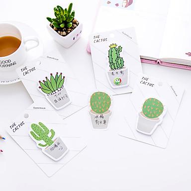 1 pc kaktus samoljepljive bilješke 30 stranica (slučajna boja)