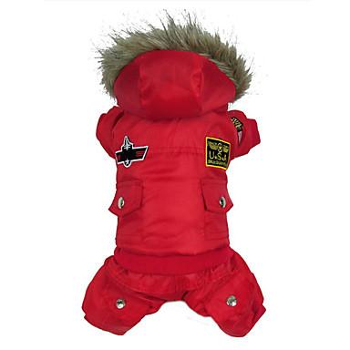 رخيصةأون ملابس وإكسسوارات الكلاب-كلب المعاطف ملابس الكلاب الأمريكية / الولايات المتحدة الأمريكية أحمر أخضر أزرق قطن كوستيوم من أجل الشتاء الدفء