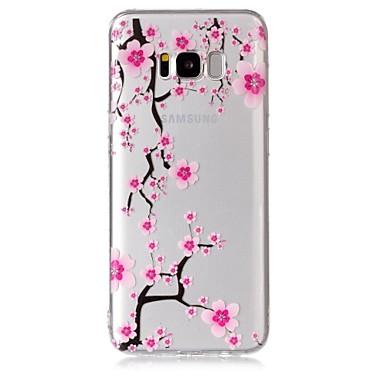 Недорогие Чехлы и кейсы для Galaxy S-Кейс для Назначение SSamsung Galaxy S8 Plus / S8 / S7 edge Прозрачный / С узором Кейс на заднюю панель Цветы Мягкий ТПУ