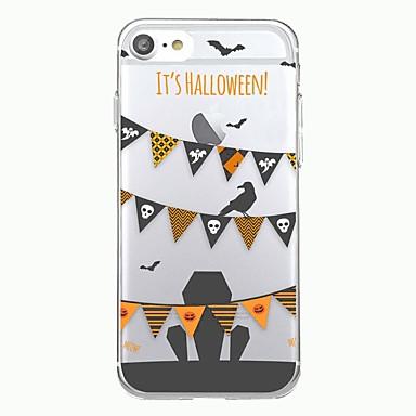 voordelige iPhone-hoesjes-hoesje Voor iPhone 7 / iPhone 7 Plus / iPhone 6s Plus iPhone SE / 5s Transparant / Patroon Achterkant Geometrisch patroon / Halloween Zacht TPU