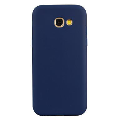 رخيصةأون حافظات / جرابات هواتف جالكسي A-غطاء من أجل Samsung Galaxy A3 (2017) / A5 (2017) / A7 (2017) شبه شفّاف غطاء خلفي لون سادة ناعم TPU