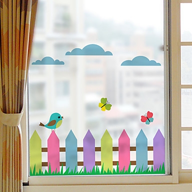 رخيصةأون الستائر-فيلم نافذة وملصقات زخرفة حيوانات الفني PVC / Vinyl ملصق النافذة
