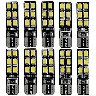 Недорогие Освещение салона авто-T10 Грузовик / Автомобиль Лампы 2.4 W SMD LED 180 lm Светодиодная лампа Внутреннее освещение Назначение