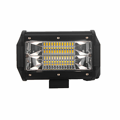 olcso Szerelő világítás-4db 72w 7200lm 6000k 3 soros led munka világos hideg fehér árvíz offroad vezetési fény autó / hajó / fényszóró ip68 9-32v dc