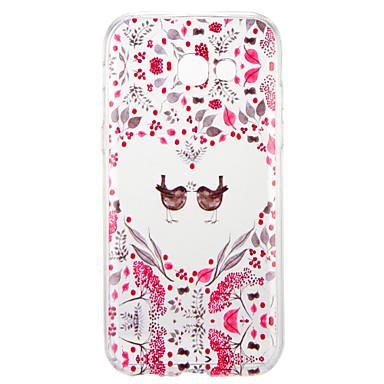 voordelige Galaxy A-serie hoesjes / covers-hoesje Voor Samsung Galaxy A3 (2017) / A5 (2017) Patroon Achterkant dier / Bloem Zacht TPU