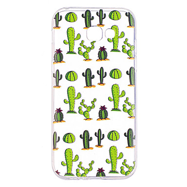 voordelige Galaxy A-serie hoesjes / covers-hoesje Voor Samsung Galaxy A3 (2017) / A5 (2017) / A7 (2017) Transparant / Patroon Achterkant Boom Zacht TPU