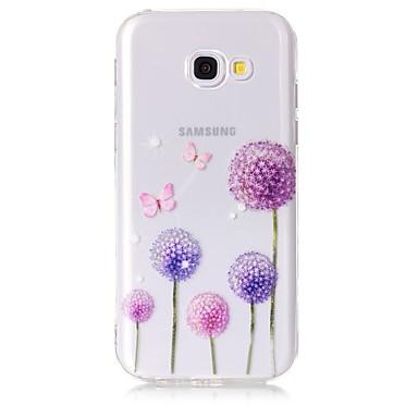 voordelige Galaxy A-serie hoesjes / covers-hoesje Voor Samsung Galaxy A3 (2017) / A5 (2017) / A5(2016) Transparant / Patroon Achterkant Vlinder / Paardebloem Zacht TPU
