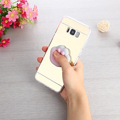 Недорогие Чехлы и кейсы для Galaxy S3-Кейс для Назначение SSamsung Galaxy S8 Plus / S8 / S7 edge Зеркальная поверхность / Своими руками / болотистый Кейс на заднюю панель Однотонный Твердый ПК