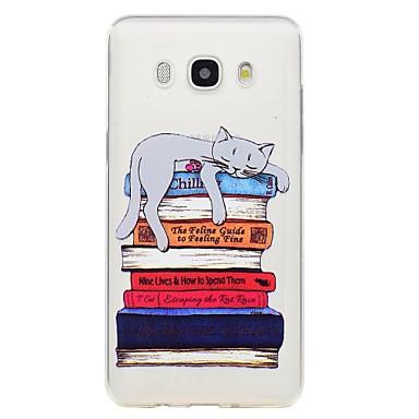 رخيصةأون حافظات / جرابات هواتف جالكسي J-غطاء من أجل Samsung Galaxy J7 (2017) / J7 (2016) / J5 (2017) نموذج غطاء خلفي قطة ناعم TPU
