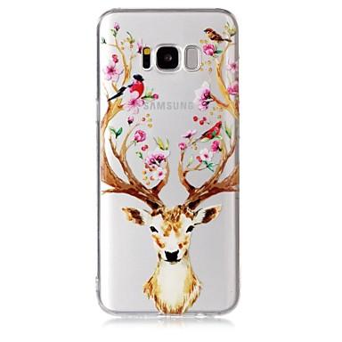 Недорогие Чехлы и кейсы для Galaxy S-Кейс для Назначение SSamsung Galaxy S8 Plus / S8 / S7 edge Прозрачный / С узором Кейс на заднюю панель Животное / Цветы Мягкий ТПУ
