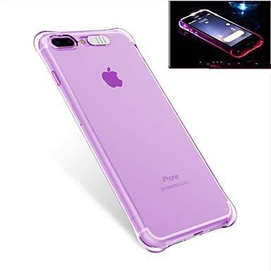 voordelige iPhone 7 hoesjes-hoesje Voor Apple iPhone 7 Plus / iPhone 7 / iPhone 6s Plus Schokbestendig / LED-knipperlicht Achterkant Effen Zacht TPU