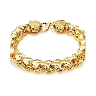 voordelige Heren Armband-Heren Armbanden met ketting en sluiting Rock Gothic Modieus Verguld Armband sieraden Goud Voor Straat Club
