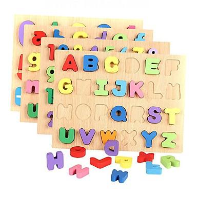 رخيصةأون اللوحي طفل-أحجار البناء تركيب ألعاب الرياضيات رقم رسالة خشبي للأطفال للصبيان للفتيات ألعاب هدية