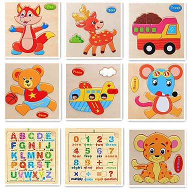 olcso gyerekek Puzzle-Feljlesztő kártyajátékok Irodai íróasztali játékok Építőkockák Gyümölcs Állatok Fa 9 pcs Rajzfilmfigura Felnőttek Lány Játékok Ajándék