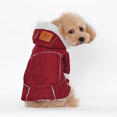 olcso Ajándékok állatkedvelők számára-Kutya Kabátok Tél Kutyaruházat Barna Fukszia Jelmez Szőrmeutánzat Egyszínű Party Casual / hétköznapi Melegen tartani S M L XL XXL