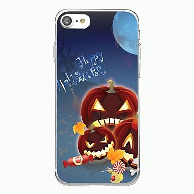 voordelige iPhone-hoesjes-hoesje Voor iPhone 7 / iPhone 7 Plus / iPhone 6s Plus iPhone SE / 5s Transparant / Patroon Achterkant Cartoon / Halloween Zacht TPU