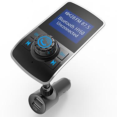 voordelige Bluetooth autokit/handsfree-Automatisch HY68 V3.0 FM Zenders USB-poort Mp3-Speler