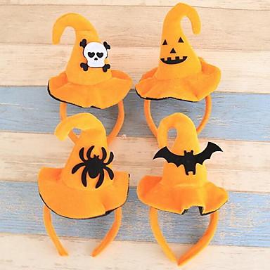 povoljno Dekoracija doma-Halloween raznolikost lijep headband hoop bundeve šešire šešir odrasle djece Halloween party dressing materijal