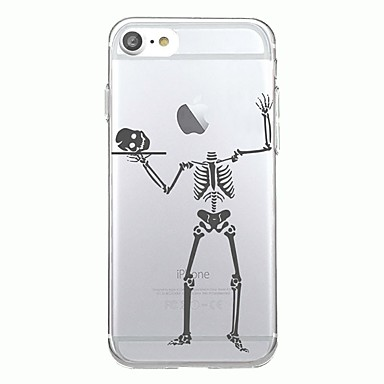 voordelige iPhone-hoesjes-hoesje Voor iPhone 7 / iPhone 7 Plus / iPhone 6s Plus iPhone SE / 5s Transparant / Patroon Achterkant Halloween Zacht TPU