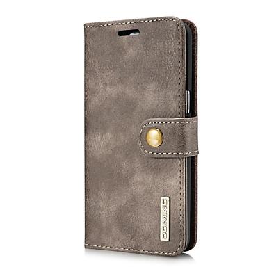 levne Galaxy S pouzdra / obaly-DG.MING Carcasă Pro Samsung Galaxy S8 Pouzdro na karty / se stojánkem / Flip Celý kryt Jednobarevné Pevné Pravá kůže pro S8 Plus / S8 / S7 edge