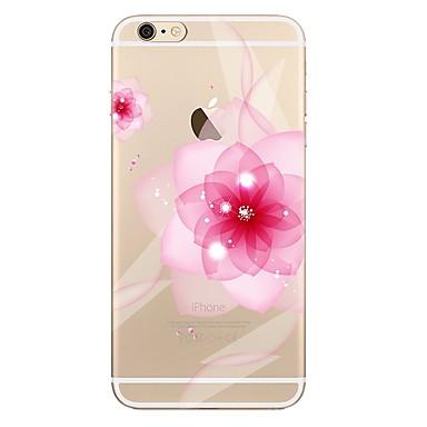 voordelige iPhone 5c hoesjes-hoesje Voor Apple iPhone 7 Plus / iPhone 7 / iPhone 6s Plus Transparant / Patroon Achterkant Bloem Zacht TPU