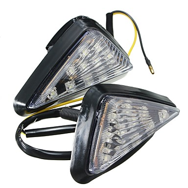 Недорогие Фары для мотоциклов-ziqiao 1 пара мотоцикл прозрачный заподлицо держатель указатель поворота свет светодиодный фонарь янтарный индикатор мигание мигалки освещение