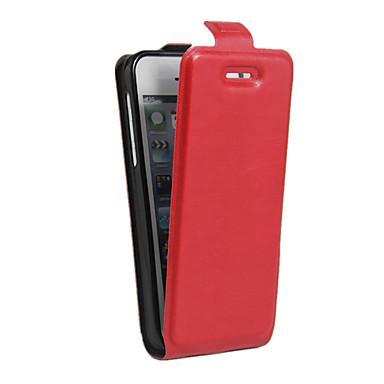 رخيصةأون أغطية أيفون-غطاء من أجل Apple iPhone 6s Plus / ايفون 6s / iPhone 6 Plus حامل البطاقات / ضد الصدمات / ضد الغبار غطاء كامل للجسم لون سادة ناعم جلد PU