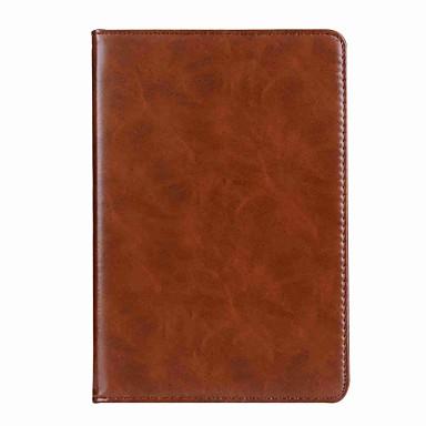 رخيصةأون iPad-غطاء من أجل Apple ايباد ميني 5 / iPad New Air (2019) / iPad Mini 3/2/1 محفظة / حامل البطاقات / مع حامل غطاء كامل للجسم لون سادة قاسي جلد أصلي