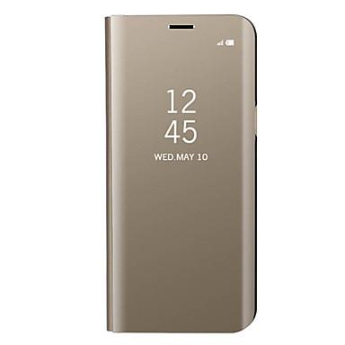 voordelige Galaxy J-serie hoesjes / covers-hoesje Voor Samsung Galaxy J7 Prime / J7 (2017) / J5 Prime Beplating / Spiegel / Flip Volledig hoesje Effen Hard Metaal