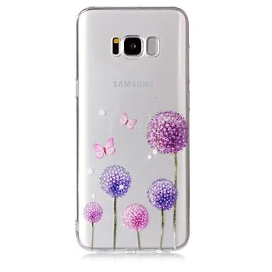 voordelige Galaxy S-serie hoesjes / covers-hoesje Voor Samsung Galaxy S8 Plus / S8 / S7 edge Transparant / Patroon Achterkant Vlinder / Paardebloem Zacht TPU