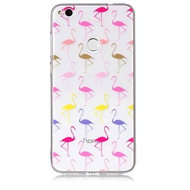 hoesje Voor Huawei / Huawei P8 Lite P10 Lite / P10 / P8 Lite (2017) Transparant / Patroon Achterkant Flamingo Zacht TPU