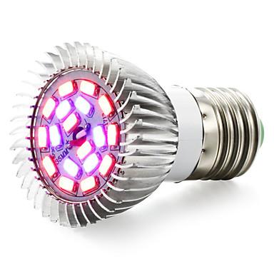 رخيصةأون LED وإضاءة-ينمو ضوء أدى النبات ينمو ضوء أدى تزايد ضوء لمبة 85-265 فولت 7 واط 635-735lm e14 gu10 e26 / e27 18 الخرز led smd 5730 أحمر أزرق بنفايات fcc