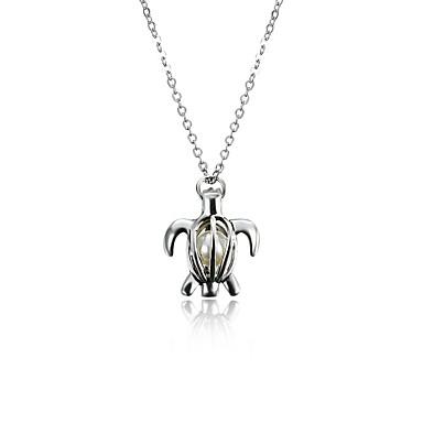 Per donna Perle Collane con ciondolo   Collana di medaglioni - Perla Con  animale Personalizzato 2eec25ef4957