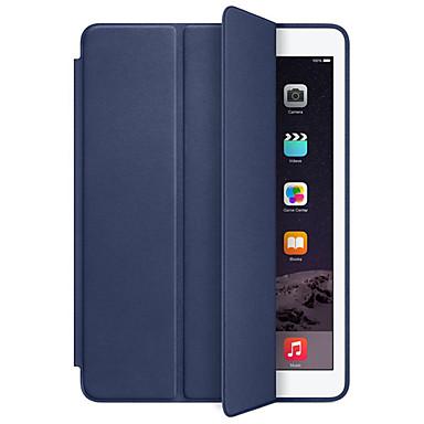 رخيصةأون أغطية أيباد-غطاء من أجل Apple iPad Air / iPad 4/3/2 / iPad Mini 3/2/1 ضد الصدمات / النوم / الإيقاظ التلقائي غطاء كامل للجسم لون سادة قاسي جلد PU / iPad Pro 10.5 / iPad (2017)