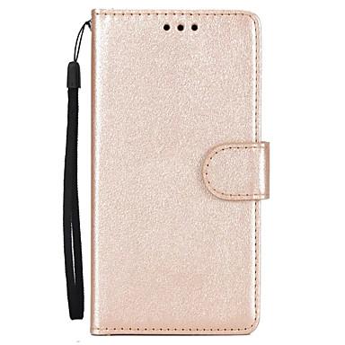 رخيصةأون Huawei أغطية / كفرات-غطاء من أجل Huawei P10 Plus / P10 Lite / P10 محفظة / حامل البطاقات / مع حامل غطاء كامل للجسم لون سادة قاسي جلد PU