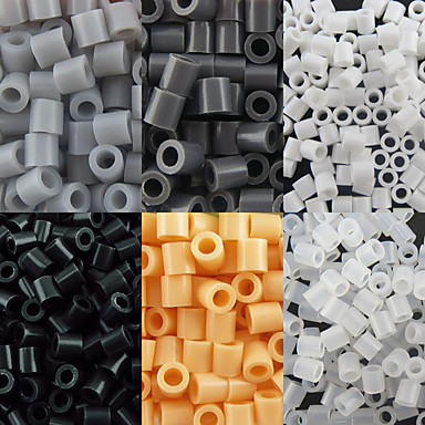 olcso Gyöngyök és gyöngyfűzés-kb 500db / csomag 5mm biztosíték gyöngyök hama gyöngyök DIY kirakós EVA anyagból safty gyerekeknek (válogatott 6 színes, B44-B50)