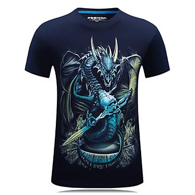 993b52f5a92a Ανδρικά Μεγάλα Μεγέθη T-shirt Αθλητικά Ενεργό - Βαμβάκι Ζώο Στρογγυλή  Λαιμόκοψη Λεπτό Μαύρο XXXXL   Κοντομάνικο   Άνοιξη   Καλοκαίρι   Φθινόπωρο  6168922 ...