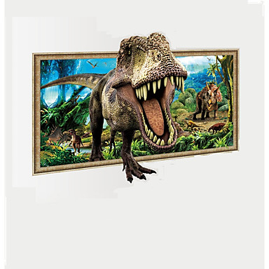 D Dinosaur Through Landscape Painting Wall Stickers Animals - 3d dinosaur wall decalsdinosaur wall decals for kids rooms to wall decals dinosaur