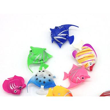 olcso Kiegészítők akváriumokhoz és halaknak-Akvárium Akváriumdíszek Halak Műhal Véletlenszerűen kiválasztott szín Díszítmény Műanyag 3.5-4 cm