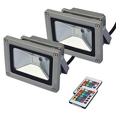 olcso Kültéri lámpák-jiawen 2db led árvízvilágítás kültéri reflektorfény 10w rgb ip65 falvilágító lámpa vízálló kerti világítás ac85 -265v