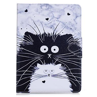 رخيصةأون أغطية أيباد-غطاء من أجل Apple iPad Air / iPad 4/3/2 / iPad Mini 3/2/1 محفظة / حامل البطاقات / مع حامل غطاء كامل للجسم قطة / حيوان قاسي جلد PU / iPad Pro 10.5 / iPad (2017)